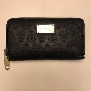 ❌SOLD❌Betsey Johnson Black Leather Skull Wallet